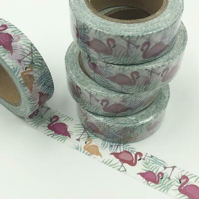 WASHI TAPE 15mm x 10m - Flamingos