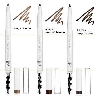 Deep Brown Neutral Brown Quality ELF Brow Pencil & Contour Brush Roll Up