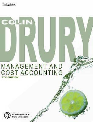 Management and Cost Accounting by Colin Drury Paperback Book 7th Edition - Used