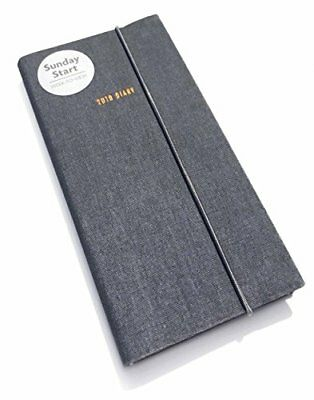 Sunday Start Charcoal Slim D 2019 (Diary Slim) by  New Paperback Book