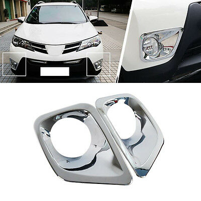 for Toyota RAV4 2013-2015 Cars Front Bumper Fog Light Plating Lamp Cover 1 SET