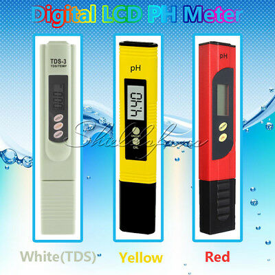 Digital LCD PH Meter TDS EC Water Purity PPM Filter Hydroponic Pool Tester New