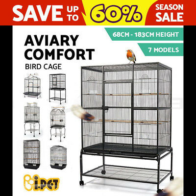 Best i.Pet Bird Cage Pet Carrier Portable Canary Budgie Finch Perch High Quality