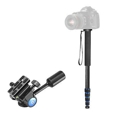 Neewer Carbon Fiber Monopod with Single Handle Tripod 360 Degree Ball Head