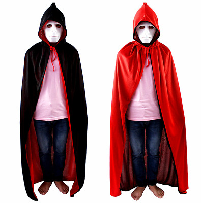 Cape Costume Fancy Dress Cosplay Halloween Vampire Reversible Adult Or Child