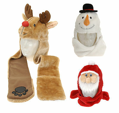 Super Soft Winter Childrens Christmas Hat with Mittens Xmas Hat & Scarf 90cm