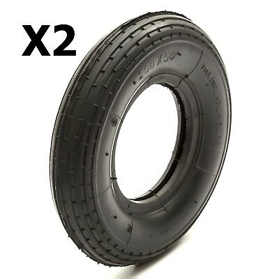 2 Electric E Scooter Tyres Size 200 x 50 Treaded Fits 4'' 4 Inch Wheel 8x2''