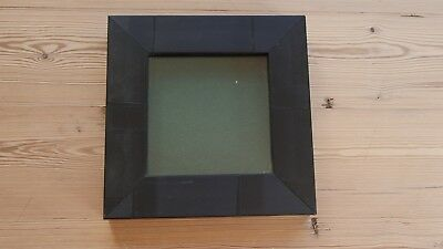 Collectors display case, buttons, badges, medals, wall hang frame,BLACK/green