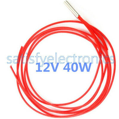 Reprap 12v 40W Ceramic Cartridge Wire Heater For Arduino 3D Printer Prusa Mendel