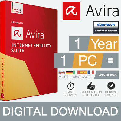 Avira Internet Security Suite 2019 (1PC/1Year) Antivirus Genuine License Windows
