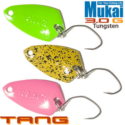 Mukai Tang Tungsten 3.0 g 20 mm Trout Spoon assorted colors