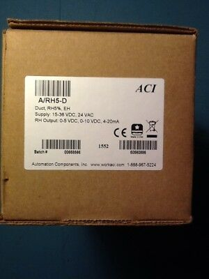 ACI DUCT MountHUMIDITY SENSOR A/RH5%D New in box Supply Voltage 24VAC/15-30VDC