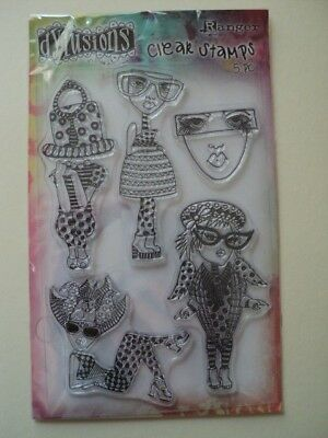 """RANGER DYLUSIONS BY DYAN REAVELEY MINI STENCIL STAINED GLASS 4/"""" X 6/"""" BNIP *LOOK*"""