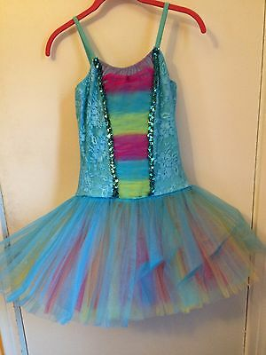 New Art Stone MA (Adult Medium) Ballet Dance Costume with attached tutu