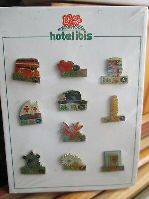 collection lots 10 pins hotel IBIS divers pays mondial