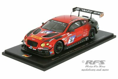 Bentley Continental GT3  24h Nürburgring 2017  ABT Motorsport  1:43 Spark SG 309
