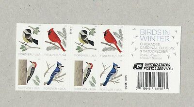 2018 #5320b with 5317-5320 Birds in Winter Booklet of 20 Forever Stamps Mint