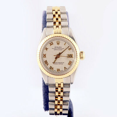 LADIES ROLEX DATEJUST Jubilee Two Tone Fluted Tapestry Dial