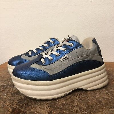 be85b972eaa Vintage Skechers Platform Shoes Chunky 90s Sneakers Size 10 Made In Italy