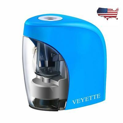 2 Holes Electric Pencil Sharpener USB Rechargeable or Battery Operated Gift Kids