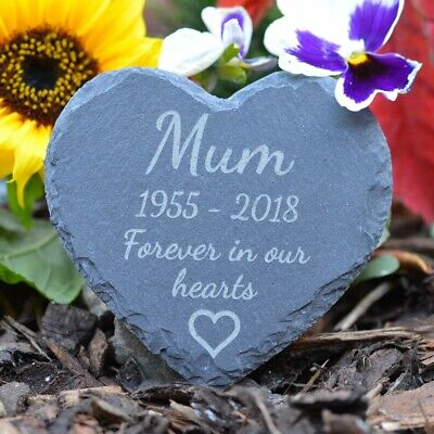 Memorial Plaque - Personalised Engraved Grave Stone Slate Marker Headstone Gift