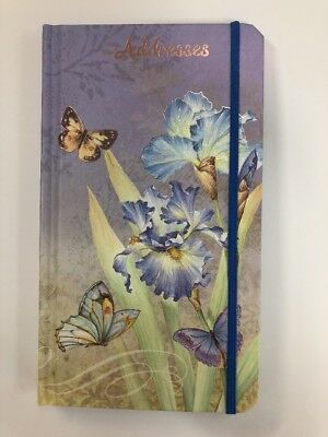 Address Book Butterfly Purple Floral 90mm X 160mm