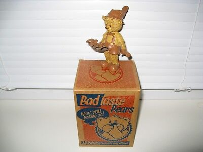 Bad Taste Bears - BTB Bear 372 - Pinobbio Wooden Variation Cert 1/150 (NEU/OVP)