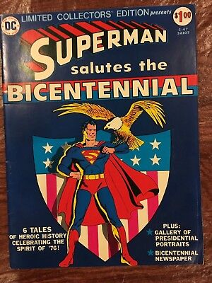 Dc Limited Collectors' Edition C-47 Superman Salutes The Bicentennial Sept 1976
