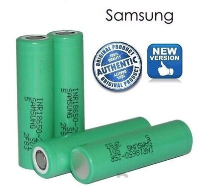 100% GENUINE SAMSUNG 25R 18650 2500mAh 20 35A INR  RECHARGABLE Vape BATTERIES .,