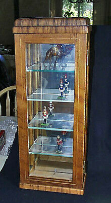 Unique Antique Wall Clock Custom Made Display Case With Glass Shelving