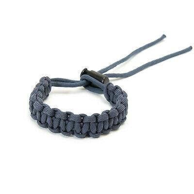 Adjustable Paracord Bracelet - Navy Blue Slate - apmots Braided Outdoors Hike
