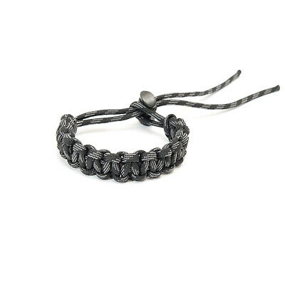 Adjustable Paracord Bracelet - Black Camo - apmots Braided Outdoors Hike Camp