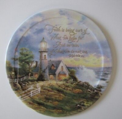 Thomas Kinkade Plate---A Light in the Storm---Have Faith Collection---5th Issue