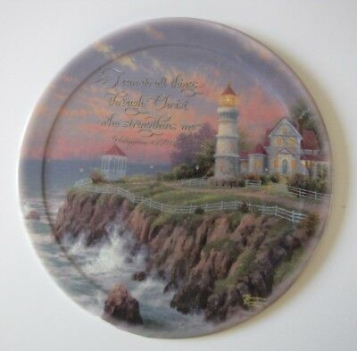 Thomas Kinkade Plate---Victorian Light---Have Faith Collection---7th Issue