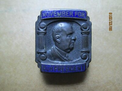 1908/12 Eugene W Chafin President Prohibition Political Silver Pinback Badge Pin