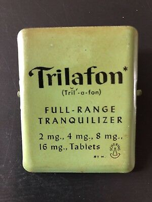 vintage Trilaphon Schering Tranquilizer Advertising Clip Pharmacy Drug Store