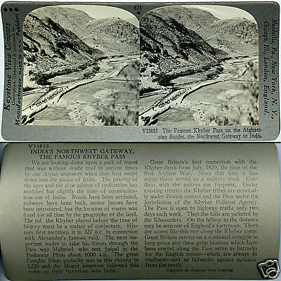 Keystone Stereoview the KHYBER PASS Afghanistan - India From 600/1200 Card Set