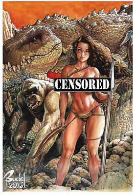 Cavewoman RAPTORELLA #1 E Budd Root VIRGIN Special ltd to 500 copies COA VF+/NM+