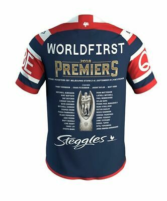 Sydney Roosters NRL 2018 ISC Premiers Jersey Sizes S-7XL  *** In Stock***