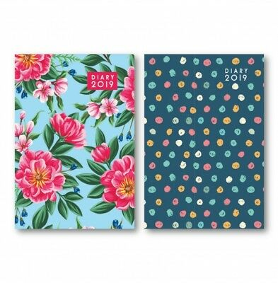 2019 A5 Size Week to View Designer Hard Back Desk Diary Christmas GIrls Gift