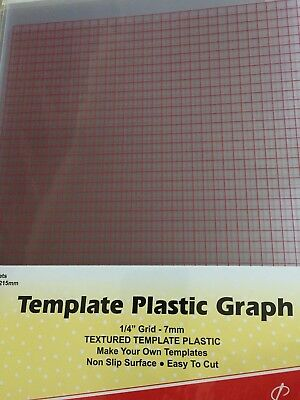 Sew Easy 2 sheets 208 x 215 mm each of Template Plastic Grid