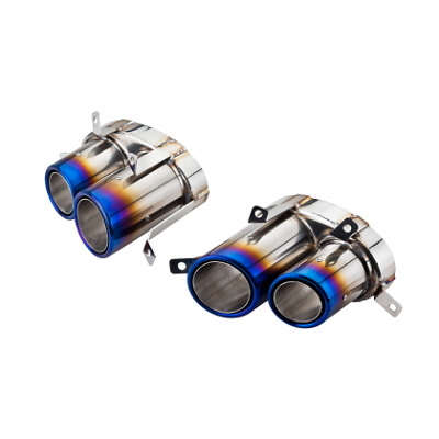 Audi R8 V8 Direct Fit Burnt Finish Pair of Exhaust End Pipes Tailpipes Tips