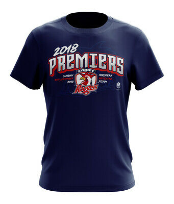Sydney Roosters NRL 2018 Premiers T Shirt Sizes S-5XL& Kids Sizes **In Stock**