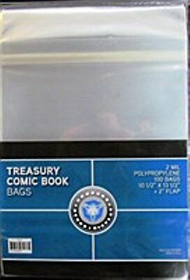 10 Treasury Comic Book Bags And 10 Treasury Backing  Boards Archival Safe