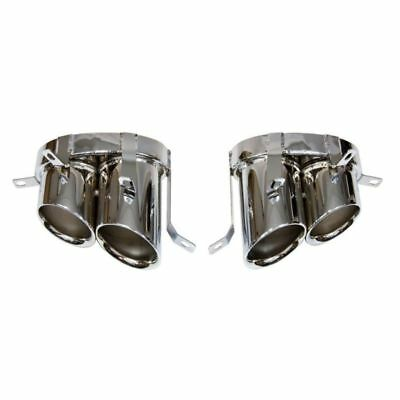 Audi R8 V8 Direct Fit Stainless Finish Pair of Exhaust End Pipes Tailpipes Tips