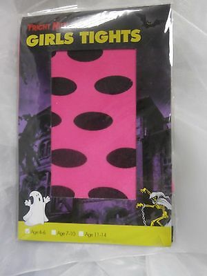 Neon Pink With Black Dots All Over. Halloween - Fancy Dress Age 11-14 Book Week