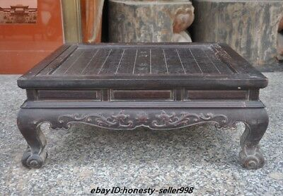"25""old chinese huanghuali wood Weiqi Of Go Chessboard Chess Checkerboard Tables"