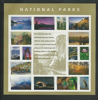 2016 #5080 National Park Service Centennial Pane of 16 Forever Stamps Mint