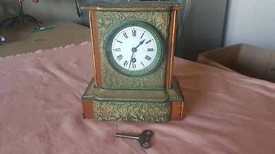 Stunning French Heavy Stone Cast Clock , Brass Movement & Casing