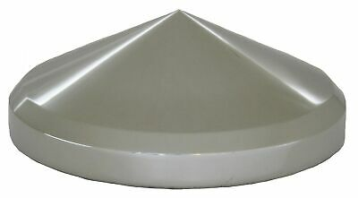 """hub cap rear 8 1/4"""" I.D. cone pointed stainless steel 3 3/8"""" tall in center"""
